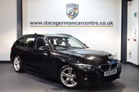 USED 2014 63 BMW 3 SERIES 2.0 318D M SPORT TOURING 5DR 141 BHP + FULL BLACK LEATHER INTERIOR + EXCELLENT SERVICE HISTORY + 1 OWNER FROM NEW + BLUETOOTH + SPORT SEATS + DAB RADIO + CRUISE CONTROL + AUTO AIR CONDITIONING + RAIN SENSORS + LIGHT PACKAGE + PARKING SENSORS + 18 INCH ALLOY WHEELS +
