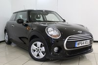 USED 2014 64 MINI HATCH COOPER 1.5 COOPER PEPPER PACK 3DR 134 BHP MINI SERVICE HISTORY + BLUETOOTH + AIR CONDITIONING + RADIO/CD + ELECTRIC WINDOWS + 15 INCH ALLOY WHEELS