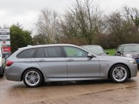 USED 2014 64 BMW 5 SERIES 2.0 520D M SPORT TOURING 5d AUTO 188 BHP AUTOMATIC, SAT NAV, FULL LEATHER + HEATED SEATS