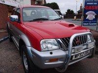 USED 2002 52 MITSUBISHI L200 2.5 4LIFE LWB DCB 4WD 1d 114 BHP