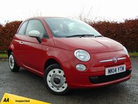 USED 2014 14 FIAT 500 1.2 COLOUR THERAPY 3d **12 MONTHS FREE AA MEMBERSHIP**