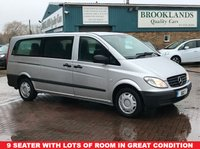 2009 MERCEDES-BENZ VITO 2.1 109 CDI EXTRA LONG TRAVELINER 9 SEATER LWB 1d 87 BHP £7995.00