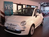 USED 2009 09 FIAT 500 1.4 LOUNGE 3d 99 BHP Privately owned, service history, supplied with 12m Mot & a service. Fitted with Pan roof & Blue & Me.