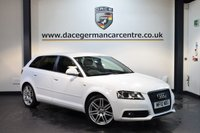 USED 2010 10 AUDI A3 1.8 SPORTBACK TFSI S LINE SPECIAL EDITION 5DR 158 BHP + HALF BLACK LEATHER INTERIOR + FULL SERVICE HISTORY + TELEPHONE EQUIPMENT + SPORT SEATS + HEATED MIRRORS + AUXILIARY PORT + PARKING SENSORS + 18 INCH ALLOY WHEELS +