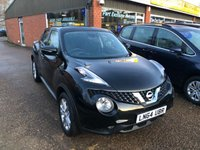 USED 2014 64 NISSAN JUKE 1.2 ACENTA DIG-T 5d 115 BHP WITH ONLY 17000 MILES IN BLACK APPROVED CARS ARE PLEASED TO OFFER THIS  NISSAN JUKE 1.2 ACENTA DIG-T 5 DOOR 115 BHP WITH ONLY 17000 MILES IN BLACK WITH A GREAT SPEC INCLUDING BLUETOOTH,RUN FLAT TYRES AND CRUISE CONTROL AND A FULL SERVICE HISTORY AND ONLY 1 OWNER.(5 IN STOCK NOW AND THEY WILL NOT LAST LONG)