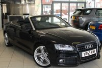 USED 2009 59 AUDI A5 2.0 TDI S LINE 2d 168 BHP FULL BLACK LEATHER SEATS + FULL SERVICE HISTORY + BLUETOOTH + 19 INCH ALLOYS + HEATED SEATS + XENON HEADLIGHTS + AUTOMATIC LIGHTS + AIR CONDITIONING