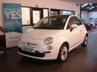USED 2015 15 FIAT 500 1.2 LOUNGE 3d 69 BHP This £20 a year tax Fiat 500 is finished in Bossanova White with Black cloth seats and white logo and etching. It is fitted with power steering with city button, remote locking, electric windows and mirrors, start stop technology, panoramic roof, Bluetooth & Media capability, silver alloy wheels, CD Stereo with USB port and more. It has been Fiat Dealer & privately owned and comes with a service history consisting of stamps & invoices, last done at 42574 miles. Includes 12 months MOT & a service