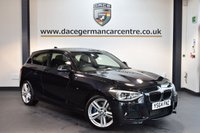 USED 2015 64 BMW 1 SERIES 2.0 116D M SPORT 3DR 114 BHP + FULL BLACK LEATHER INTERIOR + FULL SERVICE HISTORY + 1 OWNER FROM NEW + BLUETOOTH + XENON LIGHTS + DAB RADIO  + KARMAN/KARDON SPEAKERS + SPORT SEATS + RAIN SENSORS + 18 INCH ALLOY WHEELS +