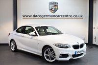 USED 2015 64 BMW 2 SERIES 2.0 218D M SPORT 2DR 141 BHP + FULL LEATHER INTERIOR + FULL BMW SERVICE HISTORY + 1 OWNER FROM NEW + BLUETOOTH + HEATED SPORT SEATS + DAB RADIO + RAIN SENSORS + PARKING SENSORS + 18 INCH ALLOY WHEELS +