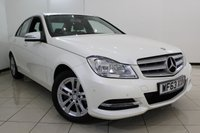 USED 2013 63 MERCEDES-BENZ C CLASS 2.1 C220 CDI BLUEEFFICIENCY EXECUTIVE SE 4DR 168 BHP MERCEDES SERVICE HSITORY + LEATHER SEATS + BLUETOOTH + PARKING SENSOR + MULTI FUNCTION WHEEL + CLIMATE CONTROL + 19 INCH ALLOY WHEELS