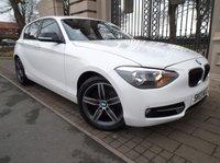 USED 2013 13 BMW 1 SERIES 1.6 116I SPORT 5d 135 BHP ****FINANCE ARRANGED***PART EXCHANGE***CRUISE CONTROL***BLUETOOTH***