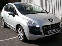 2010 PEUGEOT 3008 1.6 ACTIVE HDI 5d AUTO 112 BHP £4495.00
