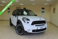 USED 2014 14 MINI COUNTRYMAN 2.0 COOPER SD ALL4 5d AUTO 141 BHP SATELLITE NAVIGATION, CARBON BLACK LEATHER, XENONS, EXT INTERIOR LIGHT PK, VISUAL BOOST RADIO, VOICE CONTROL, MEDIA PK, CHILI PK, BLACK ROOF RAILS, 18 INCH 5 STAR DOUBLE SPOKE ALLOYS, CHROME LINE INTERIOR, PIANO BLACK TRIM, HEATED FRONT SEATS - HUGE SPEC TOO MUCH TO LIST