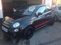 USED 2013 63 FIAT 500 1.2 S 3d 69 BHP Sporty little black number, half leather, low tax, low insurance, low price, superb.