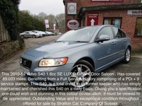 USED 2010 59 VOLVO S40 1.6 D DRIVE SE LUX 4d 109 BHP