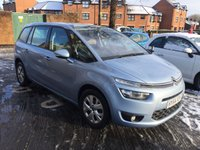 USED 2014 64 CITROEN C4 GRAND PICASSO 1.6 E-HDI AIRDREAM VTR PLUS ETG6 5d AUTO 113 BHP 7 SEATER WITH CLIMATE CONTROL, ALLOY WHEELS AND PARKING SENSORS!!..EXCELLENT FUEL ECONOMY!!..LOW CO2 EMISSIONS..£20 ROAD TAX!..FULL HISTORY..ONLY 14943 MILES FROM NEW!!