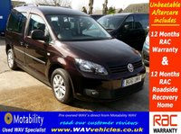 2012 VOLKSWAGEN CADDY 1.6 C20 LIFE TDI 5d AUTO SIRUS DRIVE FROM WHEELCHAIR £8995.00