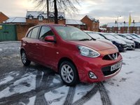 USED 2014 NISSAN MICRA 1.2 ACENTA 5d 79 BHP WITH SATELLITE NAVIGATION AND CRUISE CONTROL!!..EXCELLENT FUEL ECONOMY!!.LOW CO2 EMISSIONS..£30 ROAD TAX...FULL HISTORY...ONLY 3164 MILES FROM NEW!!