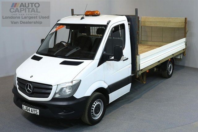 2014 64 MERCEDES-BENZ SPRINTER 2.1 313 CDI 2d 129 BHP LWB RWD CRUISE CONTROL TAIL LIFT DROPSIDE LORRY ONE OWNER FROM NEW