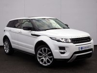 USED 2013 63 LAND ROVER RANGE ROVER EVOQUE 2.2 SD4 DYNAMIC 5d AUTO 190 BHP FUJI WHITE with FULL BLACK LEATHER...BEAUTIFUL EXAMPLE