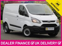 USED 2014 63 FORD TRANSIT CUSTOM 2.2 TDCI ECONETIC 100 270 SWB L1H1 PANEL VAN 3 SEATS 6 SPEED BLUETOOTH PLY LINED BULKHEAD