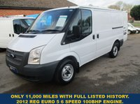 2012 FORD TRANSIT 260 SWB 100BHP WITH ONLY 11,000 MILES £SOLD