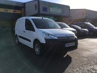 USED 2015 65 CITROEN BERLINGO 1.6 625 ENTERPRISE L1 HDI 1d 74 BHP FSH, A/C, BLUETOOTH. PARKING SENSORS, 3 SEATS, FINANCE ARRANGED & PEUGEOT WARRANTY. FSH, A/C, Bluetooth, parking sensors, Radio/CD, 3 seats, Drivers airbag, Factory fitted bulk head, Side loading door, Ply-lined. White, 1 Owner, remote Central Locking, Drivers Airbag, CD Player/FM Radio, Steering Column Radio Control, Side Loading Door, Wood Lined, Barn Rear Doors, spare key, roof rack, finance arranged & remaining Peugeot warranty