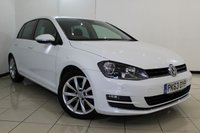USED 2013 63 VOLKSWAGEN GOLF 2.0 GT TDI BLUEMOTION TECHNOLOGY 5DR 148 BHP SERVICE HISTORY + PARKING SENSOR + BLUETOOTH + CRUISE CONTROL + MULTI FUNCTION WHEEL + 17 INCH ALLOY WHEELS