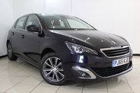 USED 2015 65 PEUGEOT 308 1.6 BLUE HDI S/S ALLURE 5DR 120 BHP SERVICE HISTORY + SAT NAVIGATION + REVERSE CAMERA + BLUETOOTH + CRUISE + MULTI FUNCTION WHEEL + 16 INCH ALLOY WHEELS