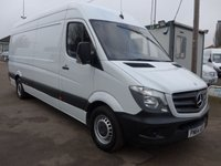 2014 MERCEDES-BENZ SPRINTER 313 CDI LWB HI ROOF, 130 BHP [EURO 5], 1 COMPANY OWNER (CHOICE OF 5) £11495.00