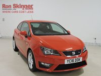 USED 2016 16 SEAT IBIZA 1.2 TSI FR TECHNOLOGY 3d 109 BHP with rear view camera