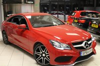 USED 2015 64 MERCEDES-BENZ E CLASS 2.1 E250 CDI AMG LINE 2d AUTO 201 BHP FULL BLACK LEATHER SEATS + MERCEDES BENZ SERVICE HISTORY + SAT NAV + BLUETOOTH + CRUISE CONTROL + HEATED FRONT SEATS + 18 INCH ALLOYS + DAB RADIO
