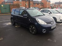USED 2012 62 NISSAN NOTE 1.4 N-TEC PLUS 5d 88 BHP MPV WITH SATELLITE NAVIGATION,PARKING SENSORS, ALLOY WHEELS, AND LEATHER TRIM!!..EXCELLENT FUEL ECONOMY!..LOW CO2 EMISSIONS(139G/KM)..LOW ROAD TAX...FULL HISTORY..ONLY 15766 MILES FROM NEW