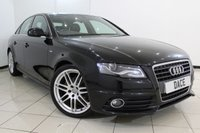 USED 2010 10 AUDI A4 2.0 TDI S LINE SPECIAL EDITION 4DR 141 BHP SERVICE HISTORY + HALF LEATHER SEATS + BLUETOOTH + PARKING SENSOR + CRUISE CONTROL + MULTI FUNCTION WHEEL + CLIMATE CONTROL + 18 INCH ALLOY WHEELS