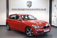 USED 2013 62 BMW 1 SERIES 2.0 116D SPORT 5DR 114 BHP + FULL SERVICE HISTORY + BLUETOOTH + SPORT SEATS + AUXILIARY PORT + HEATED MIRRORS + AIR CONDITIONING + 17 INCH ALLOY WHEELS +
