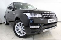 USED 2014 64 LAND ROVER RANGE ROVER SPORT 3.0 SDV6 HSE 5DR AUTOMATIC 288 BHP SERVICE HISTORY + FRONT/REAR HEATED LEATHER SEATS + SAT NAVIGATION + REVERSE CAMERA + BLUETOOTH + CRUISE CONTROL + MULTI FUNCTION WHEEL + 20 INCH ALLOY WHEELS