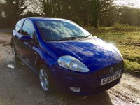 USED 2007 07 FIAT GRANDE PUNTO 1.4 ACTIVE SPORT 3d 77 BHP Alloy Wheels, Low Mileage, A/C
