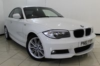 USED 2011 61 BMW 1 SERIES 2.0 120D M SPORT 2DR 175 BHP FULL SERVICE HISTORY + HALF LEATHER SEATS + PARKING SENSOR + MULTI FUNCTION WHEEL + RADIO/CD + AUXILIARY PORT + 17 INCH ALLOY WHEELS