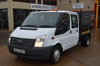 2013 FORD TRANSIT 2.2 350 DRW 4d 124 BHP LR LWB DOUBLE CAB TIPPER 6 SEAT RWD £9950.00
