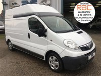 2013 VAUXHALL VIVARO 2.0 2900 CDTI LWB HIGH ROOF FULLY FITTED WORKSHOP VAN FSH £7750.00