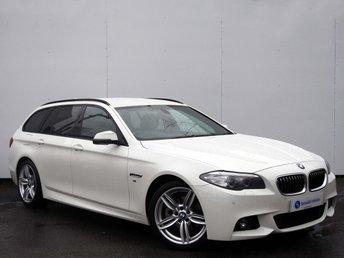2014 BMW 5 SERIES 2.0 520D M SPORT TOURING 5d AUTO 181 BHP £16495.00