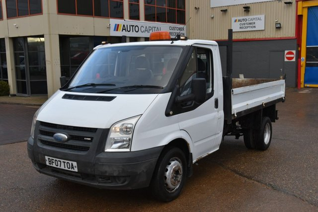 2007 07 FORD TRANSIT 2.4 350 MWB 2d 100 BHP TIPPER 2 OWNER FROM NEW