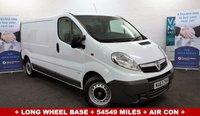 2013 VAUXHALL VIVARO 2.0 2900 CDTI 115 BHP + Long Wheel Base + 54549 miles + Air Con + Bluetooth + £6990.00