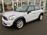 2014 MINI COUNTRYMAN 1.6 COOPER D ALL4 WHEEL DRIVE. 5DR PEPPER PACK 112 BHP £10480.00