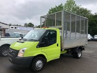 USED 2013 63 FORD TRANSIT 2.2 TDCi 350 DRW 6 Speed CAGE TIPPER*LOW MILES*TWIN WHEEL*