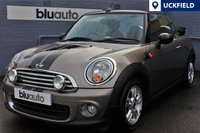 2011 MINI CONVERTIBLE 1.6 ONE 2d 98 BHP £6450.00