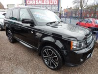 USED 2013 13 LAND ROVER RANGE ROVER SPORT 3.0 SDV6 HSE BLACK 5d AUTO 255 BHP LEATHER INTERIOR, SAT NAV, FORNT AND REAR PARKING SENSORS, F.S.H