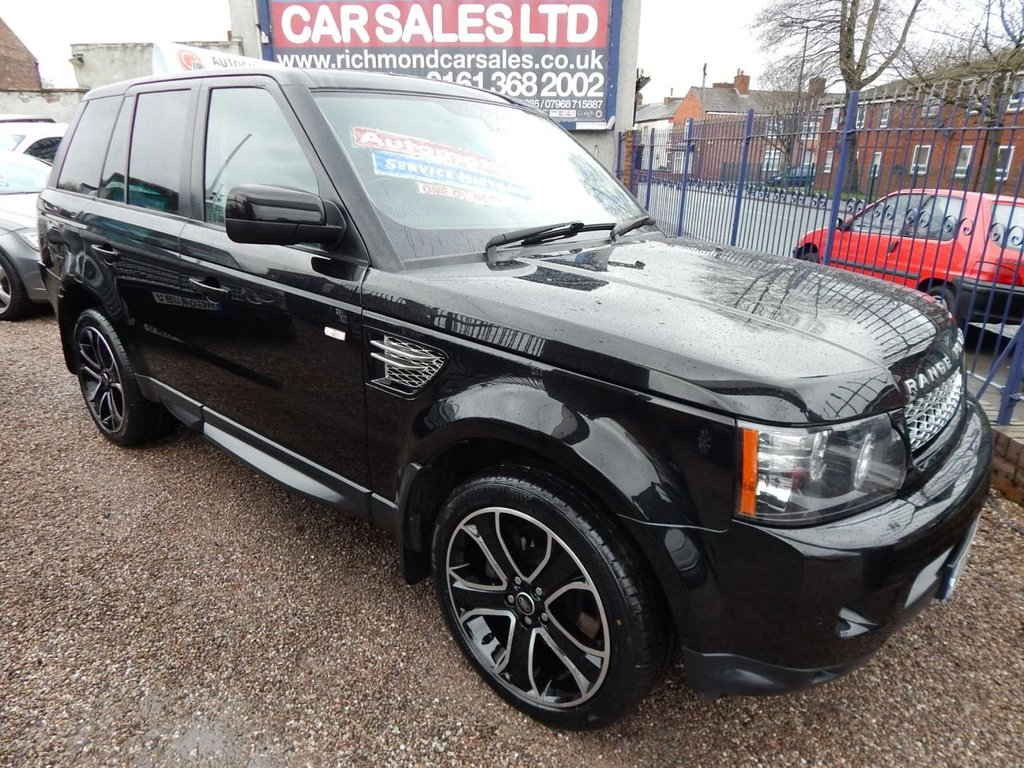 used 2013 13 land rover range rover sport 30 sdv6 hse black 5d auto 255 bhp