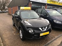 2015 NISSAN JUKE 1.2 ACENTA DIG-T 5d 115 BHP WITH ONLY 21000 MILES IN BLACK £8490.00
