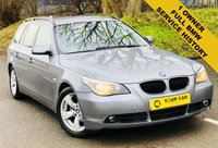 USED 2005 05 BMW 5 SERIES 2.5 525D SE TOURING 5d 175 BHP ANY INSPECTION WELCOME ---- ALWAYS SERVICED ON TIME EVERY TIME AND SERVICED MAINLY BY SAME DEALERSHIP THROUGHOUT ITS LIFE,NO EXPENSE SPARED, KEPT TO A VERY HIGH STANDARD THROUGHOUT ITS LIFE, A REAL TRIBUTE TO ITS PREVIOUS OWNER, LOOKS AND DRIVES REALLY NICE IMMACULATE CONDITION THROUGHOUT, MUST BE SEEN FOR THE PRICE BARGAIN BE QUICK, 6 MONTHS WARRANTY AVAILABLE,DEALER FACILITIES,WARRANTY,FINANCE,PART EX,FIRST TO SEE WILL BUY BARGAIN